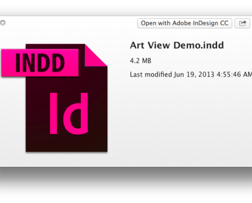 Preview of InDesign document WITHOUT Art View